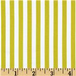 0269107 Michael Miller Clown Stripe Limeade/White