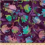 0269830 Indian Batik Tulips Purple