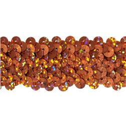 "1 1/4"" Metallic Stretch Sequin Trim Orange"