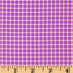 Michael Miller Cute Zoo Plaid Purple