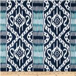 Kallianthi Malabar Repeating Border Stripe Ink Blue