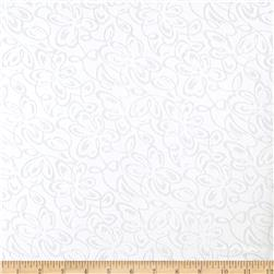 Designer Burnout Lawn Scroll White