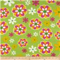 Fleece Daisies Green