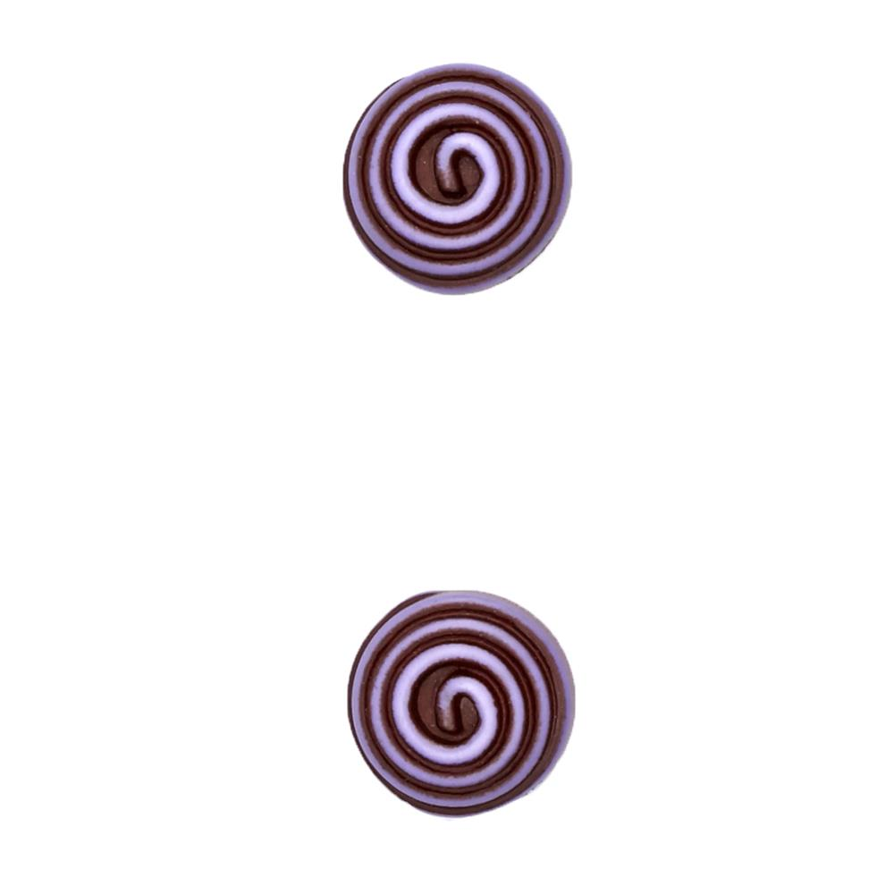 "Fashion Button 5/8"" Swirled Purple"