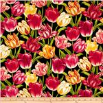 Botanica II Spring Tulips Black
