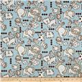 Premier Prints Mini Jungle Babies Twill Mist Blue/Putty