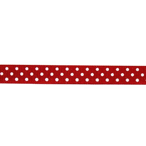 "5/8"" Grosgrain Ribbon Polka Dots Red/White"