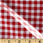 L-300 Oil Cloth Gingham Red
