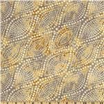 Diagonal Dots 108'' Quilt Backing Grey/Gold