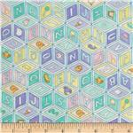 Moda Beddy Bye Flannel Baby Blocks Aqua