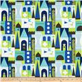 Michael Miller Retro Castle Blocks Blue