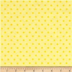 Aunt Polly's Flannel Small Polka Dots Light Yellow/Yellow