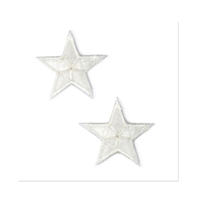 Boutique Applique Stars White