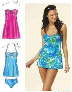 Kwik Sew Empire Swimwear & Dress Pattern