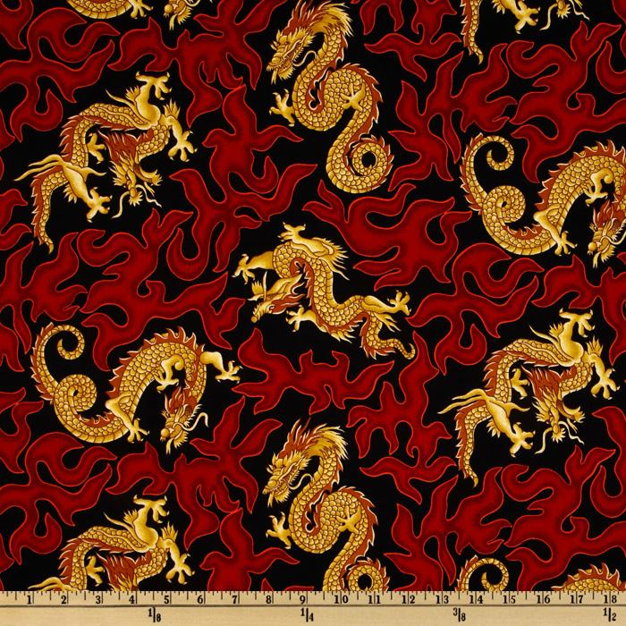 Oriental Dragons Red