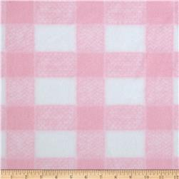 Gingham Fleece Baby Plaid Pink