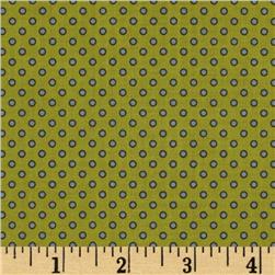 Riley Blake Pirate Matey's Pirate Dots Green
