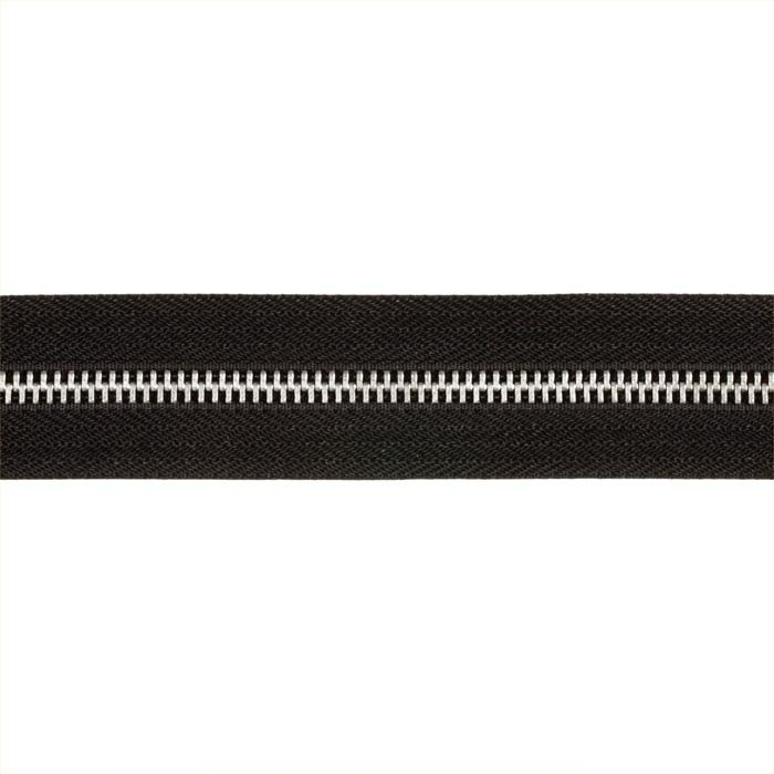 Riley Blake 1 1/4'' Zipper Trim Black