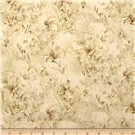 0284563 118&quot; Wide Day Lily Quilt Backing Floral Ivory