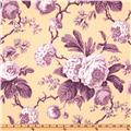 Carver Sateen Mindy Floral Purple