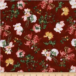 Birdsong Joy Luck Floral Red