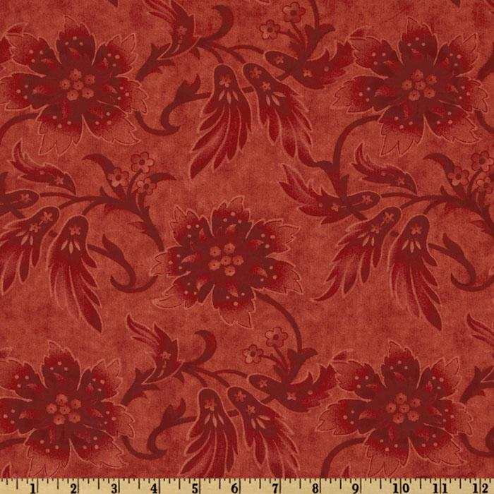 Moda Sentiments 108'' Quilt Backing Tonal Crimson