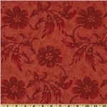 Moda Sentiments 108&#39;&#39; Quilt Backing Tonal Crimson