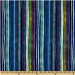 Midnight Gardens Stripes Blue/Multi