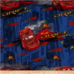 Disney Cars Fleece Drift Star Allover Blue