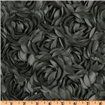 Loveable Satin Ribbon Rosette Grey