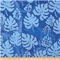 Indian Batik Corfu Leaf Indigo