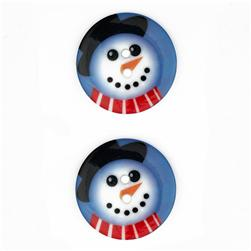 Novelty Winter Wonder Button 1 1/8'' Snowman