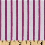 FV-383 Michael Miller Out To Sea Pirate Stripe Raspberry