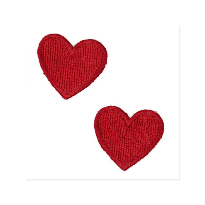 Boutique Applique Hearts Red
