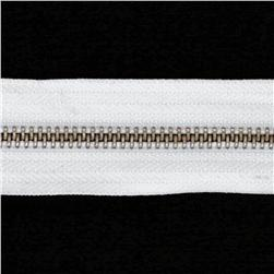 Riley Blake 1 1/4'' Zipper Trim White
