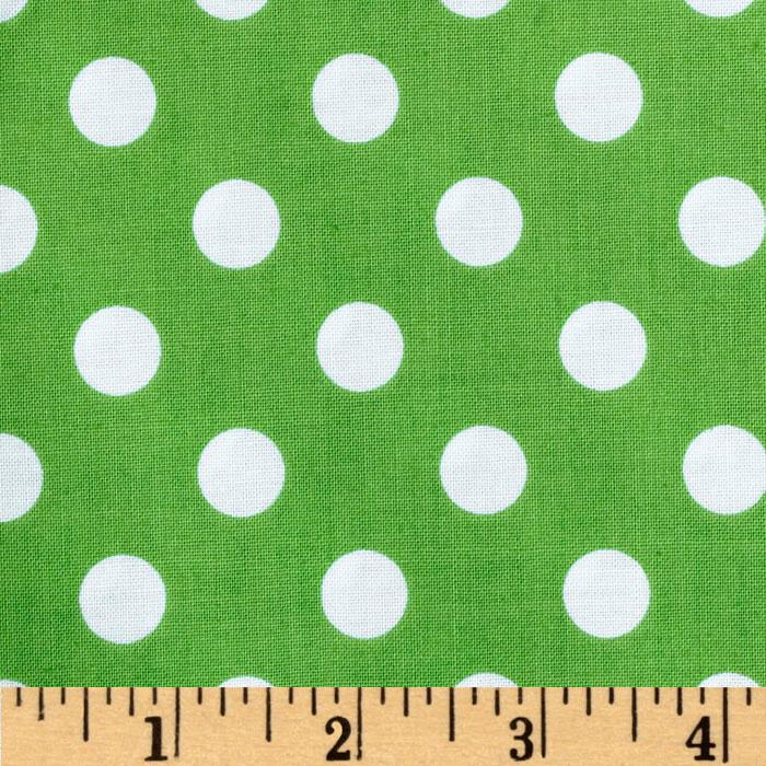 Brights & Pastels Basics Polka Dot Green
