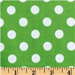 Brights &amp; Pastels Basics Polka Dot Green