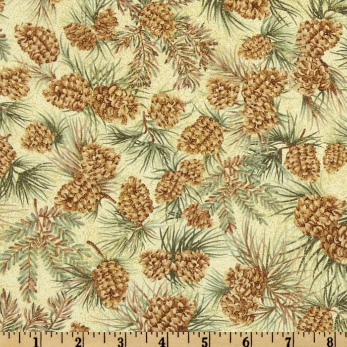 Festive Holiday Pine Cones Natural/Spruce