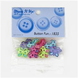 Dress It Up Embellishment Buttons  Butterfly