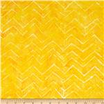 Tonga Batik Zig Zag Sun Yellow