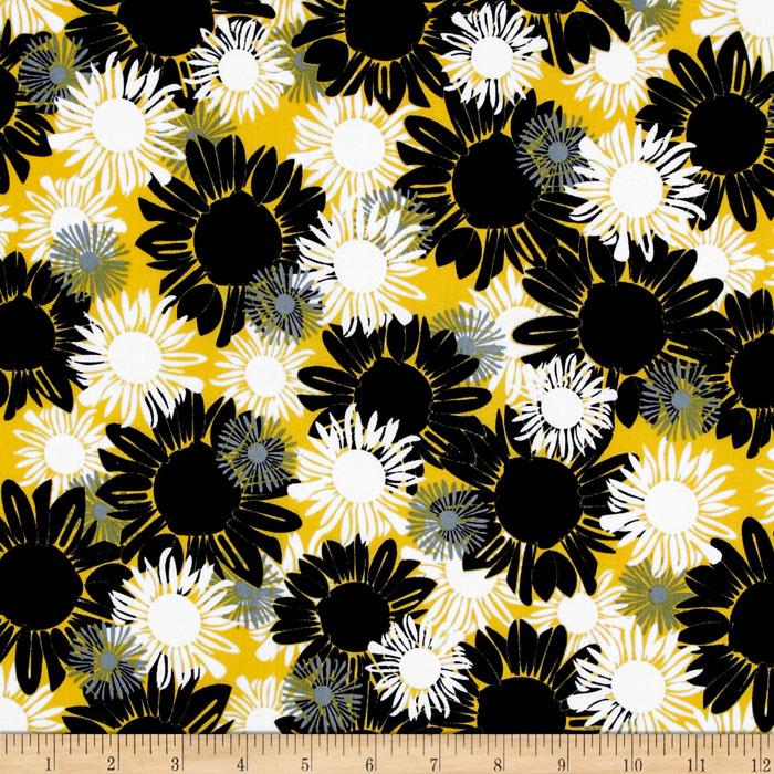 Night and Day 4 Floral Yellow