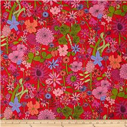Liberty Of London Tana Lawn Scilly Flora Red Multi