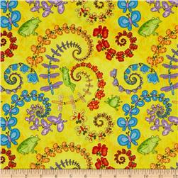 Hip Hop Friends Butterfly Spirals Yellow/Multi