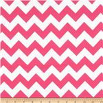 0268156 Riley Blake Flannel Basics Chevron Medium Hot Pink