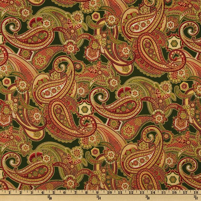 Holiday Flourish 5 Paisley Evergreen
