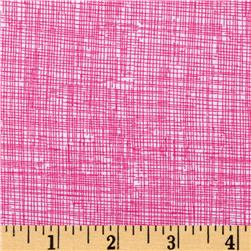 Timeless Treasures Sketch Candy Pink
