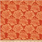 0281847 Ty Pennington Home Decor Impressions Dahlia Orange