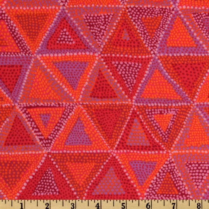 Kaffe Fassett Collective 2010 Hot Beaded Tents Red