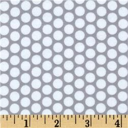Riley Blake Flannel Honeycomb Dot Grey
