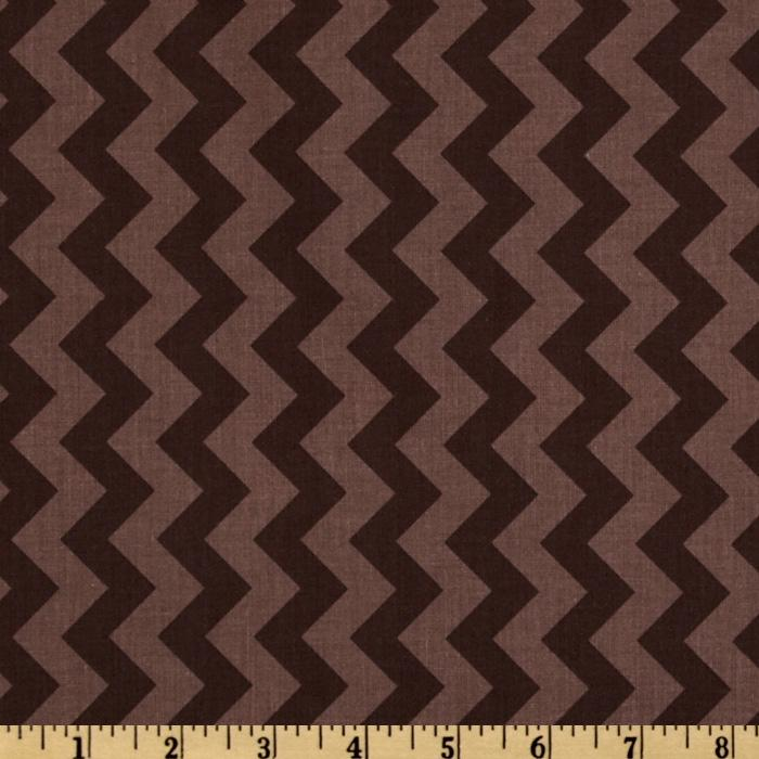 Riley Blake Chevron Small Tonal Brown